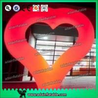 China 2m Heart Inflatable Decoration , Hanging Inflatable Wedding Decorations wholesale