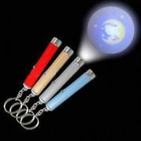 China LED Projector Keychain, Available in Various Colors wholesale