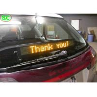 China Single Red Color Car LED Sign Display With Meanwell Power Supply , High Definition wholesale