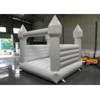 China Commercial White Inflatable Slide Bouncer Jumping Castle For Party wholesale