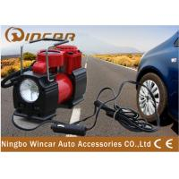 China 150PSI Portable Electric Air Compressor  12V Air Pump Led Work Light wholesale