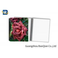 China 0.6mm PET Material Personalized Spiral Notebooks  3D Lenticular Stationery wholesale