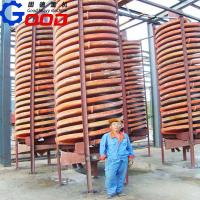 China spiral chute for gold ore sand wholesale