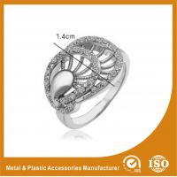 China Zinc Alloy High Fashionable Jewellery Rings With White Zircon wholesale