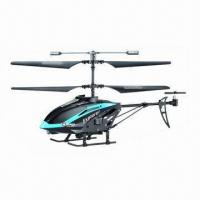China 3.5-channel RC Helicopter with Gyro, Available in Blue wholesale