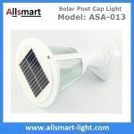 China 10LED 12Inch Height Aluminum Black or White Westinghouse Solar Lamp Post Caps Solar LED Garden Pillar Landscape Lights wholesale