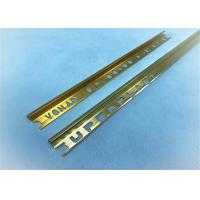 China Arc Shape Aluminium Punched Profile Golden Polishing +-0.15mm Precision wholesale