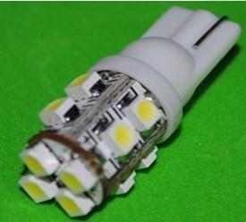 China T10 12SMD 3528 W5W white led indicator Light wholesale