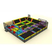 China Commercial Soft Play Trampoline , Galvanized Steel Pipe Big Trampoline Park wholesale