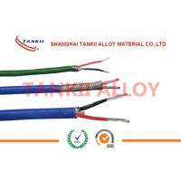 China Teflon insulated blue / red thermocouple cable  type JX KX EX with superfine bare wire conductor wholesale