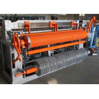 China Heavy Auto Welded Wire Mesh Machine For Fencing Roll 1m-2.3m Mesh Width wholesale