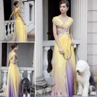China printed cap sleeve ball prom gowns,  colorful knited ball gowns wholesale