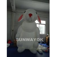 China Airtight White Inflatable Advertising Rabbit With Two Coated Side/Airtight  Inflatable Model Of  Cute Rabbit wholesale