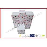 China Lovely Cosmetic Packaging Boxes / Brand Paper box with White Corrugated Insert wholesale