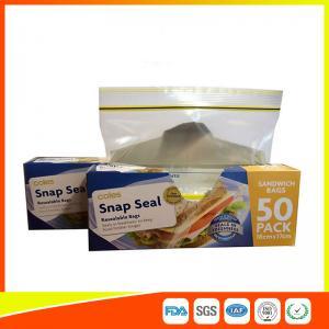 China Ziplock Plastic Sandwich Bags With Writable Panel , Zipper Food Storage Bags 18 * 17cm wholesale