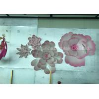 China Elegant Acrylic Decorative Items Giant Pink Acrylic Flower With Several Petals wholesale