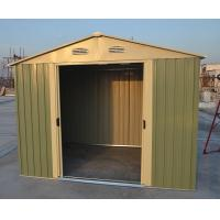 China Easy Build Silver Garden Apex Metal Shed / Garage Shed With 4 Windows 10ft x 10ft wholesale