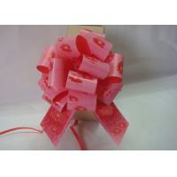 "China Christmas Gift  Stripes , Swirls Pom Pom Bow  , 5"" Wide pull ribbon bows 120U Thickness wholesale"