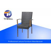 China Garden Leisure Wicker Rattan Chairs With Rustproof Durable Waterproof Stackable wholesale