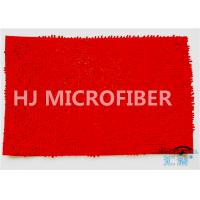 China OEM Super Soft Bedside Mat / Super Absorbent Bath Mat In Red 14 x 20 on sale