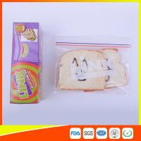 China Food Grade LDPE Double Zipper Plastic Zip Lock Bags For Food , Eco Friendly Sandwich Bags wholesale