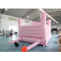 China Pink Castle Inflatable Jumping Commercial Bounce House / Bouncy Castle For Kids wholesale