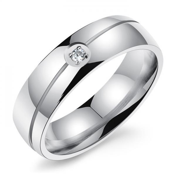 High End Engagement Custom Couple Rings Stainless Steel Lightweight Of Custom