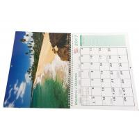 China Spiral Binding Hanging Art Paper Wall Calendars Full Color Printing For Company on sale