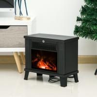China Protable electric fireplace  EF480F MINI room Heater black cast 1000W CHINA MANUFACTURER CE/GS APPROVAL with feet wholesale