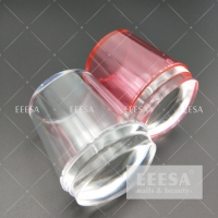 China Pink 3.5Cm Jelly Silicone 3D Nail Art Decoration Stamper wholesale