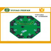 China 48 Inch 8 person MDF Casino Black jack  Poker TableTop in gambling tables wholesale