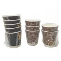 China Individual Wrapped Disposable Double Wall Paper Cups With Logo Printed on sale