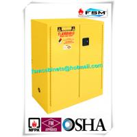 China Lockable Safety Storage Cabinets Adjustable Fireproof Vents For Flammable Liquids wholesale