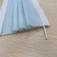 China Disposable Pleated Dust Proof Face Mask 17.5*9.5cm Size With Elastic Earloop wholesale