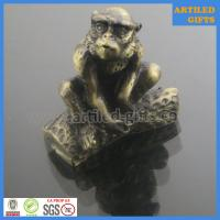 China 3D Antique gold immitation metal animal crafts of Monkey on sale