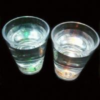 China Liquid-activated Shot Glass with One Blinking LED wholesale