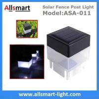 2''x 2'' Inch Square Solar Post Cap Light For Wrought Iron Fencing Front Yard