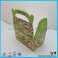 China Ivory Board Paper Cake Box With Handle , Paper Packaging Box For Suchi wholesale