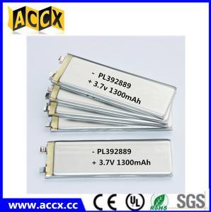 China PL392889 3.7V 1300mAh lithium polymer battery wholesale