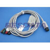 China 2.0m Gray ECG Patient Cable , Electrodes And Leads Round 6 PIN Connector wholesale