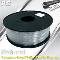 China Good Transmission of Light PC 3D Printer Transparent Filament 1.75mm / 3.0mm wholesale
