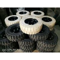 China Solid Forklift Tires 10 - 28 Forklift Spare Parts Low Speeding High Pressure Performance wholesale