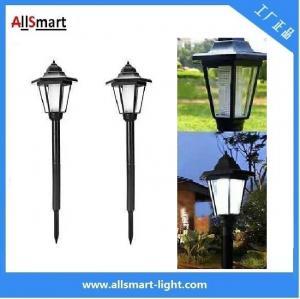China hexagon classic sensor lamp solar powered garden lights spike lights wholesale