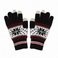 China Touchscreen Gloves, Uniset Winter for iPhone Touch, Use for All PC Phones wholesale