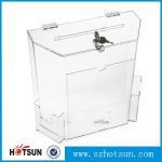 China wholesale acrylic donation/ suggestion/ money box wholesale