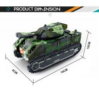 China Battery operated deformation robot military army tank toys with light music on sale