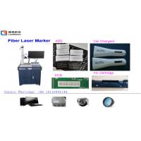 China 30W Air Cooling Fiber Laser Printing Machine For Glasses / Clocks / Watches wholesale
