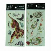 China Removable Skin Tattoo Stickers, Eco-friendly, Can Last for Several Days wholesale