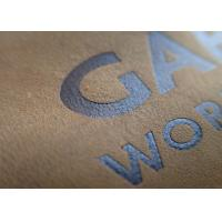 Buy cheap Factory custom embossed brand name tan color genuines leather patch for jeans from wholesalers