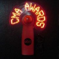 China CE-approved LED Flashing Message Fan with Three x AAA Batteries, Made of Plastic wholesale